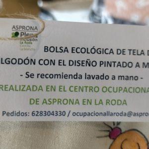 BOLSA ECOLÓGICA PORTA-MASCARILLAS DE TELA DE ALGODÓN MARIPOSA MORADA